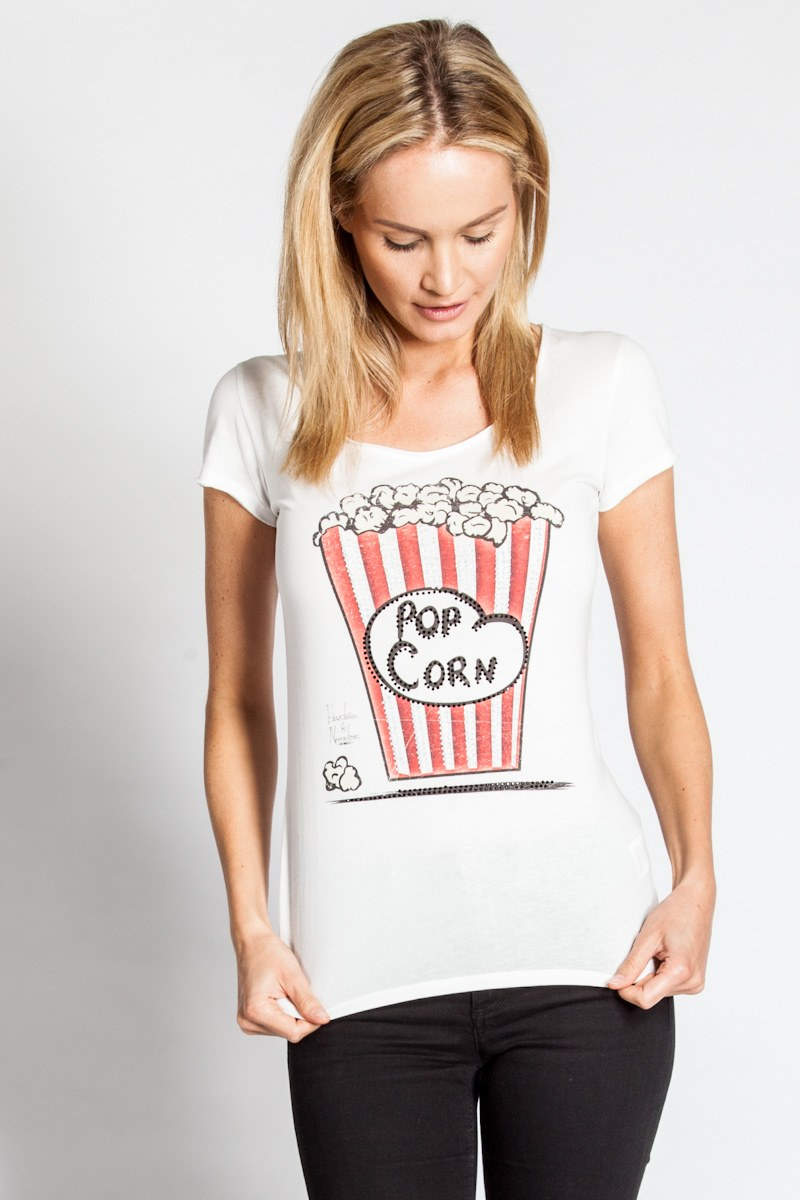 Popcorn Strass Shirt Bel Air