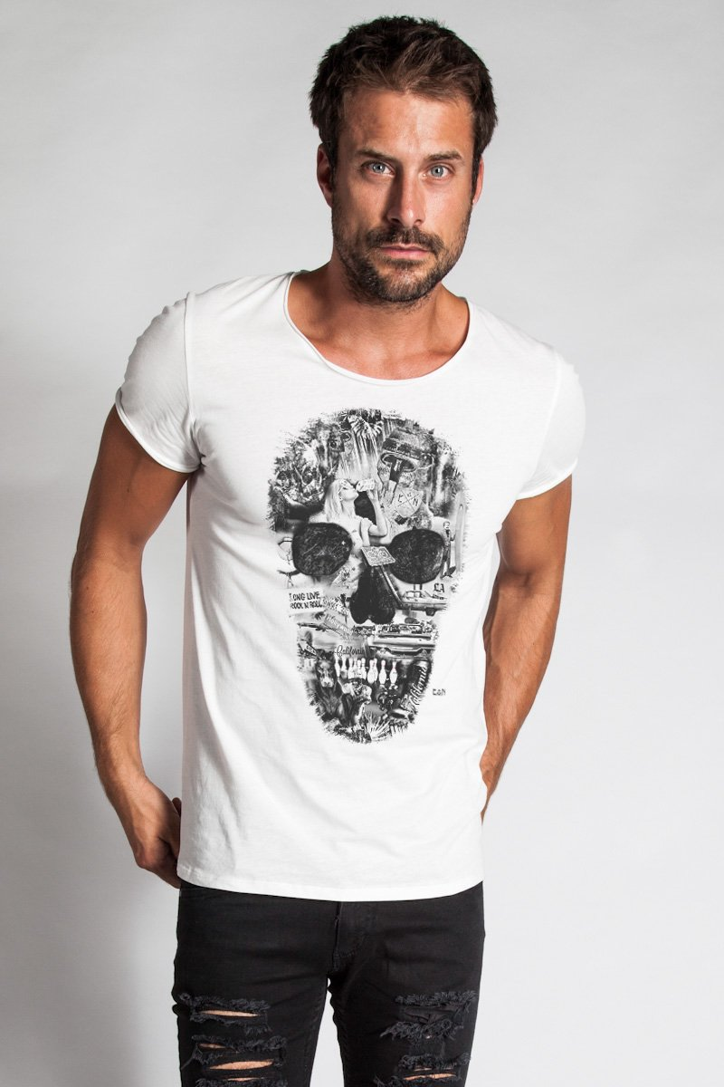 Collage Skull Shirt Bass