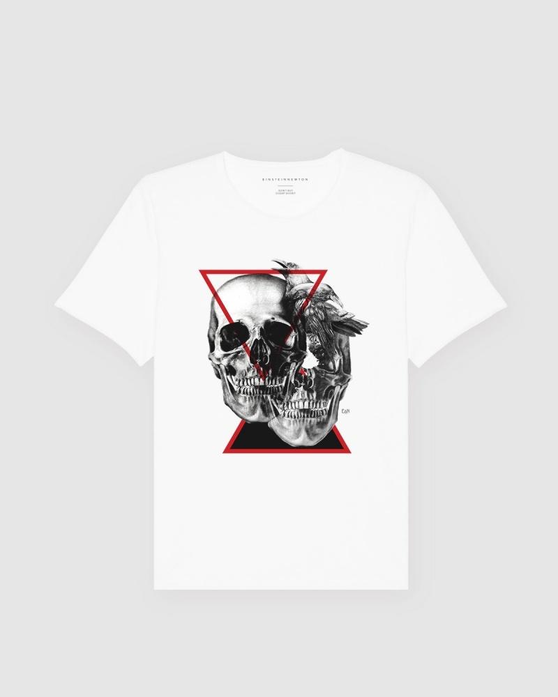 Crow Skull T-Shirt Bass