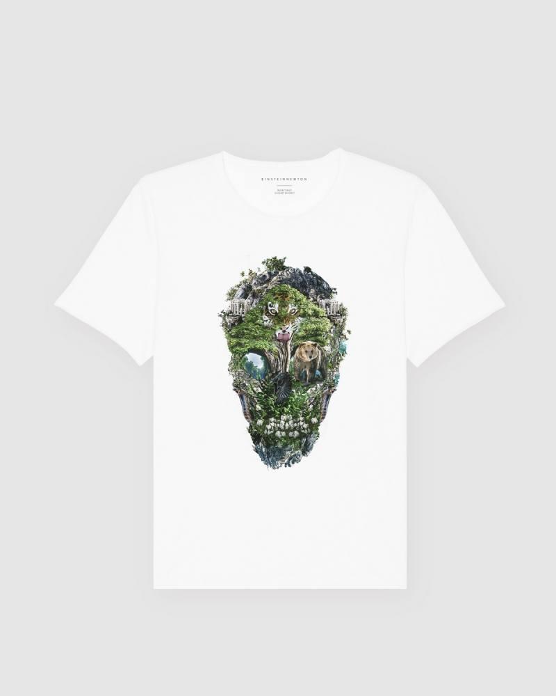 Green Skull T-Shirt Bass